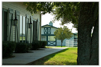 Office and Stallion Barn at the Marietta, OK facility